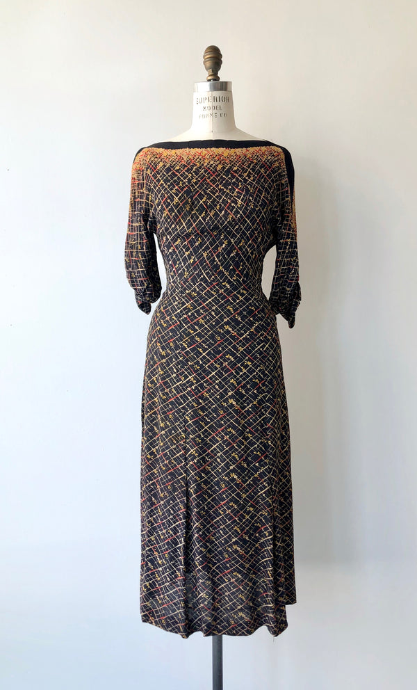 Copyright 1934 Rayon Dress