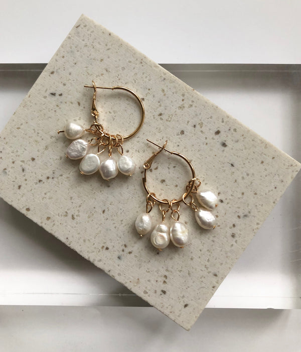 Clea Pearl Drops Earrings