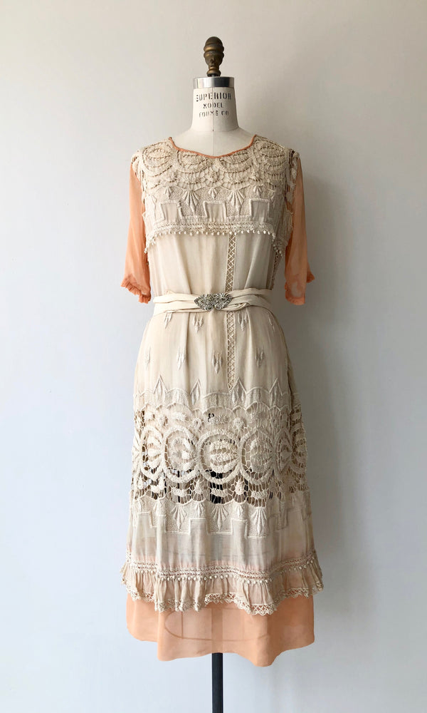 Lisle 1920s Cotton & Silk Dress
