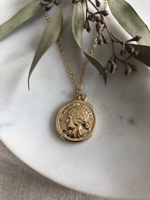 Denarius Coin Necklace | The Archaíos Collection