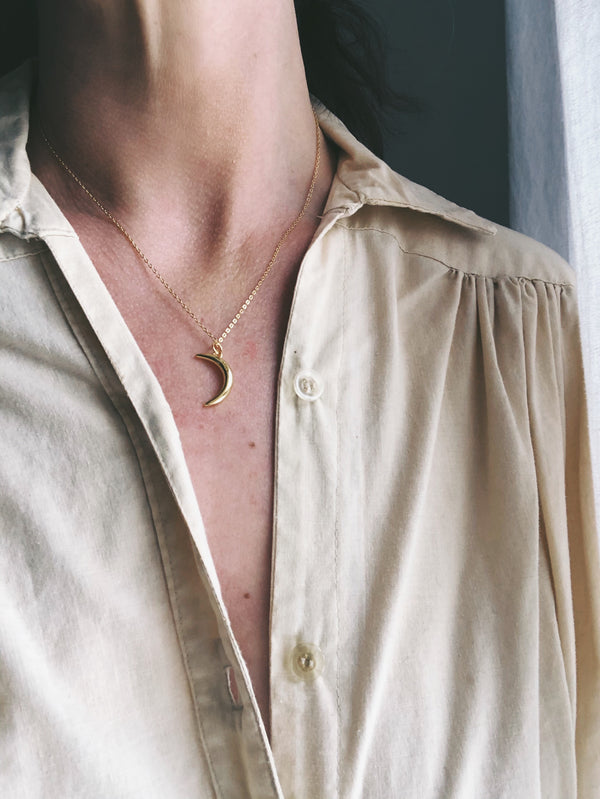 Waning Crescent Necklace | The Archaíos Collection