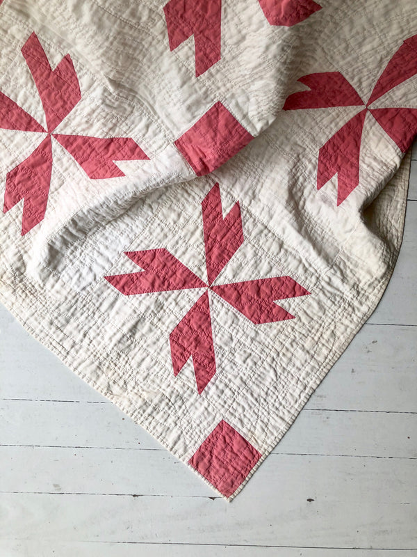Antique 1800s Pinwheel Quilt