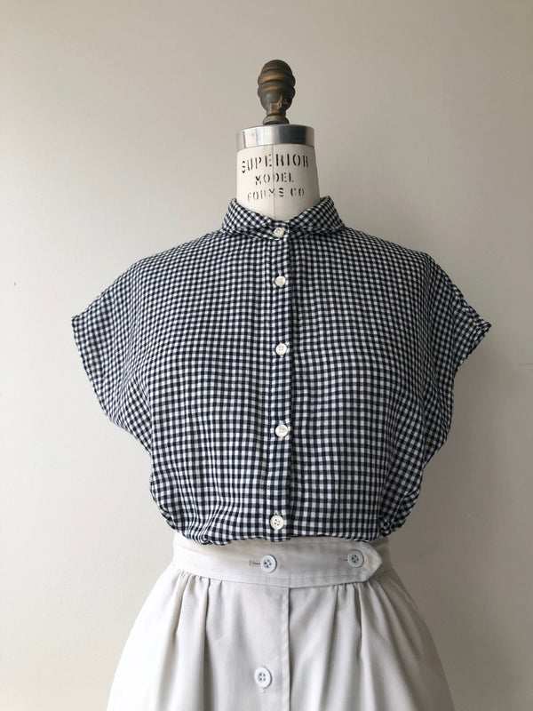 Maudie Cotton Blouse | Gingham