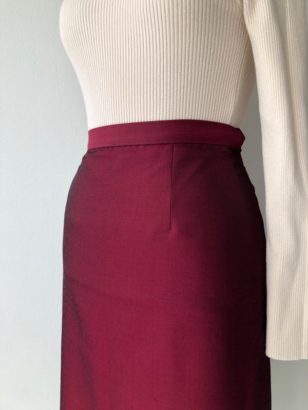 Scalet Sharkskin 1950s Skirt