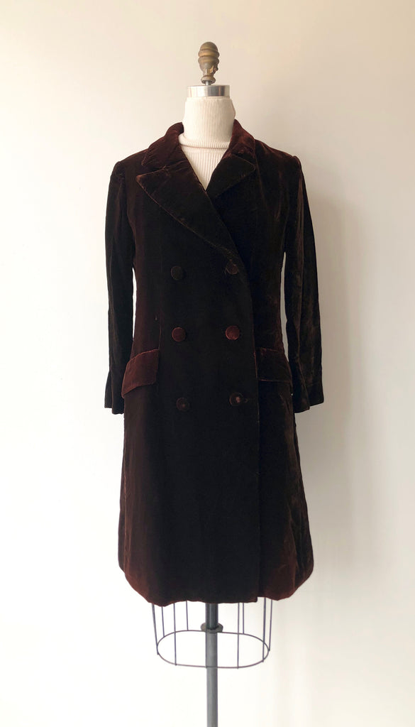 1960s Christian Dior Silk Velvet Coat
