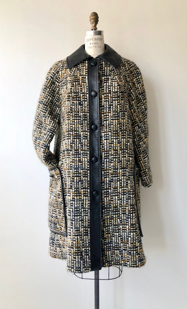 Himelhock Tweed & Leather Coat