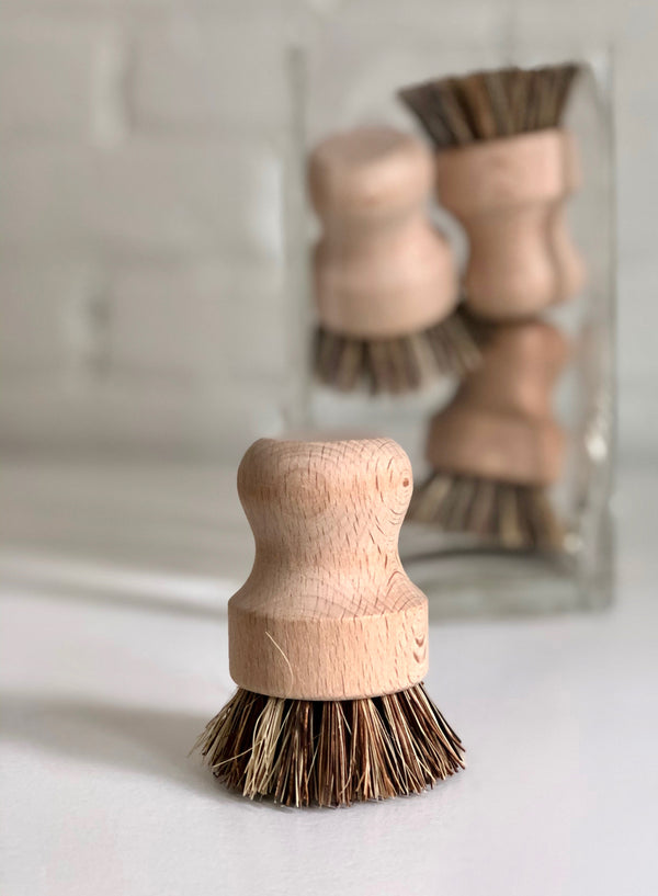 Natural Fiber Bristle Pot Brush