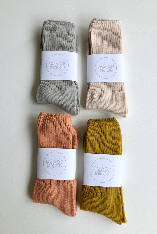 SCARF SHOP Hand-dyed Cotton Socks