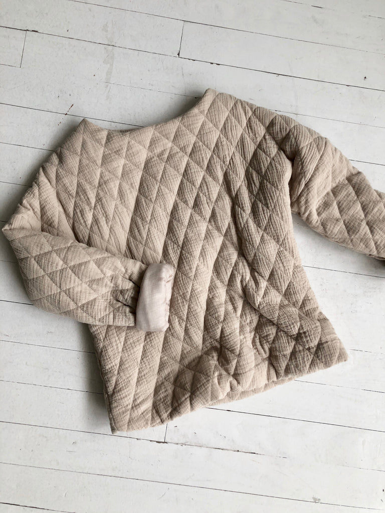 Toasted Marshmallow Quilted Sweatshirt