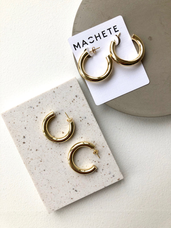 Perfect Hoops in 14k Gold | 1""