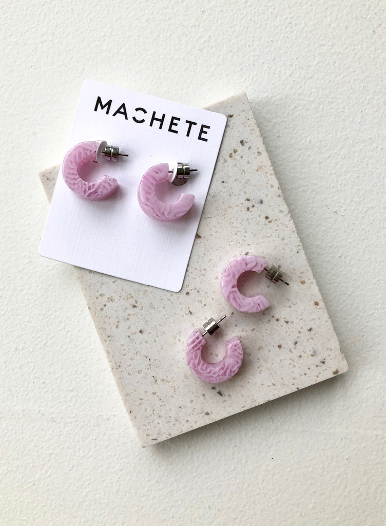 Muse Hoops in Lavender | Shop Machete