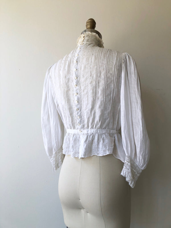 Antique Edwardian silk embroidered dressing gown