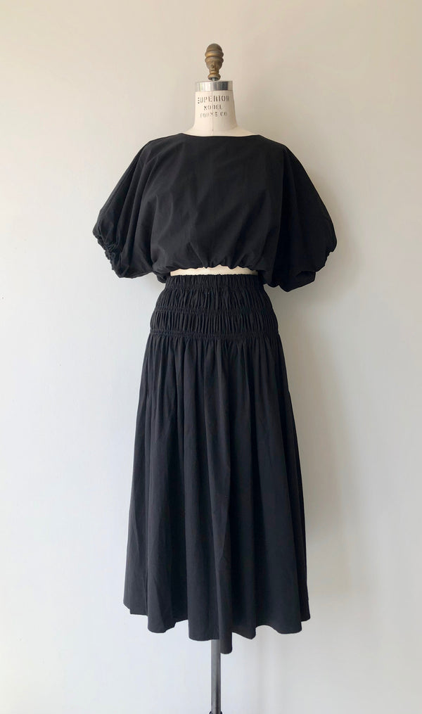Talvah Cotton Two Piece Dress in Coal