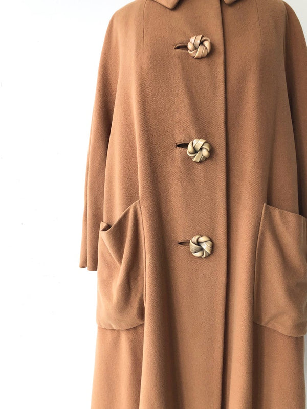 Toffee Cashmere Coat