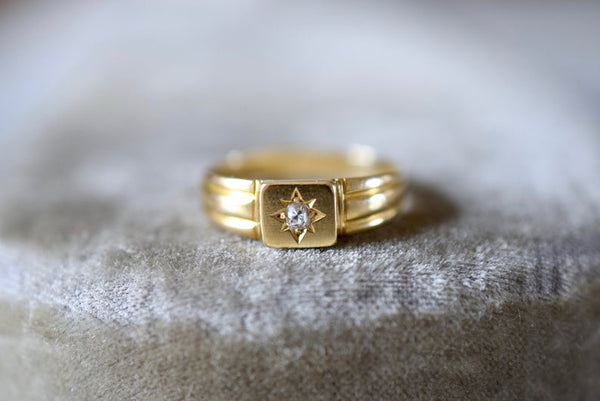 Victorian 18K Gold and Diamond ring