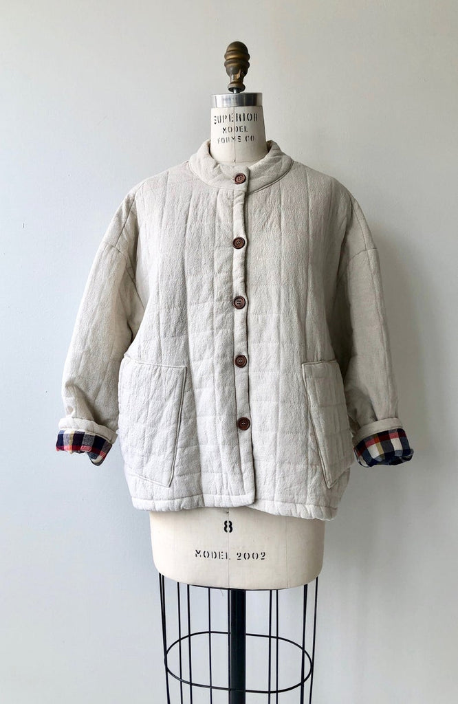 Bone Quilted Cotton Jacket