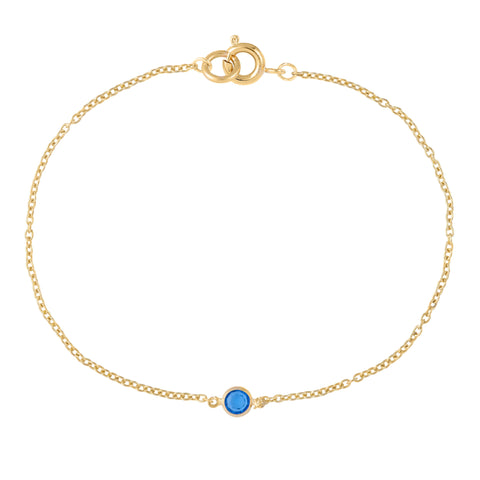 18ct Gold Plated Single Swarovski Crystal Bracelet