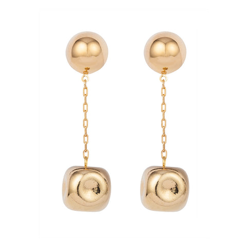1980s Vintage Givenchy Golden Drop Earrings