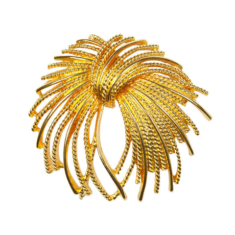 1960s Vintage Monet Flourish Brooch