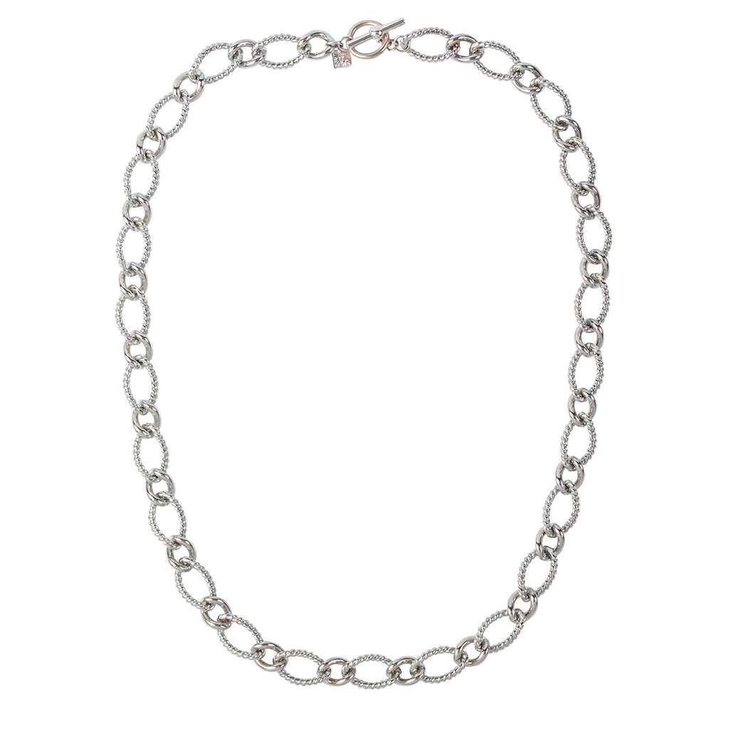 1980s Vintage Anne Klein Curving Link Necklace