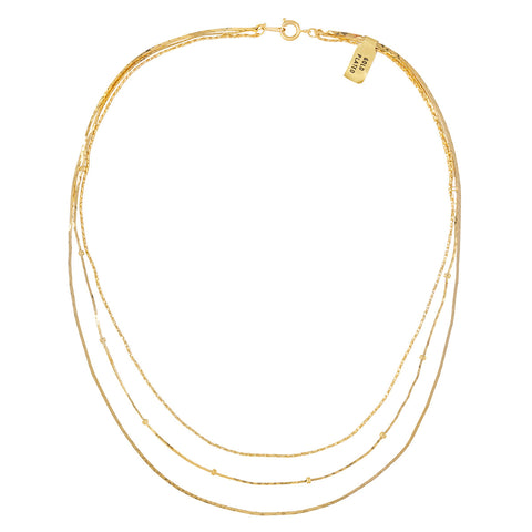 1990s Vintage Gold Plated Multichain Necklace