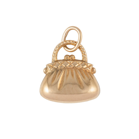 1960s Vintage 9ct Gold Purse Charm
