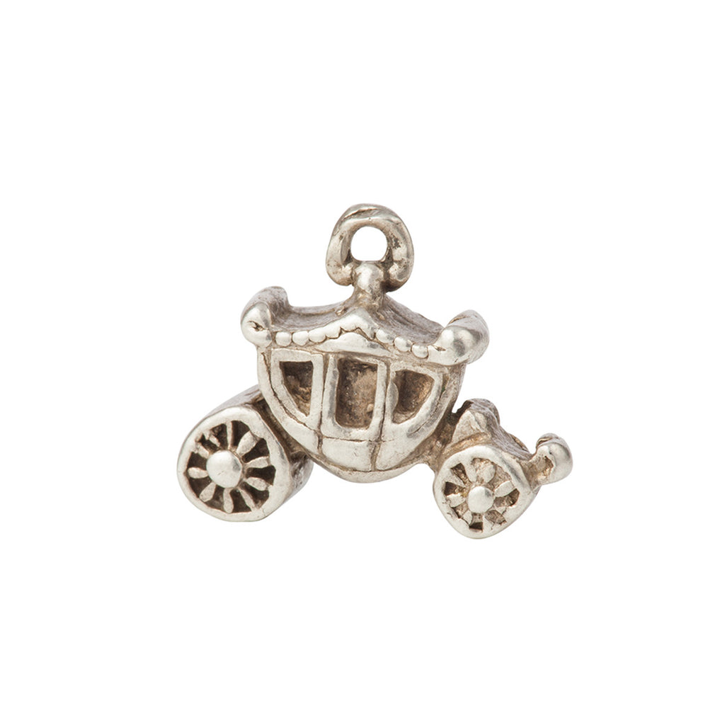 1960s Vintage Sterling Silver Carriage Charm