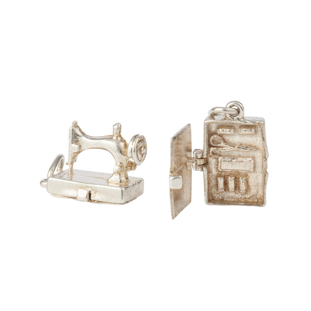 1960s Vintage Sterling Silver Nuvo Sewing Machine Charm