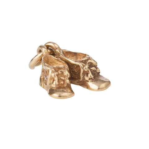 1960s Vintage 9ct Gold Boots Charm