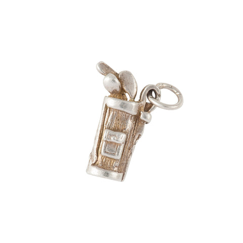 1960s Vintage Sterling Silver Golf Charm