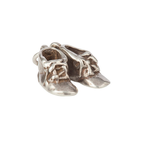 1960s Vintage Sterling Silver Boots Charm