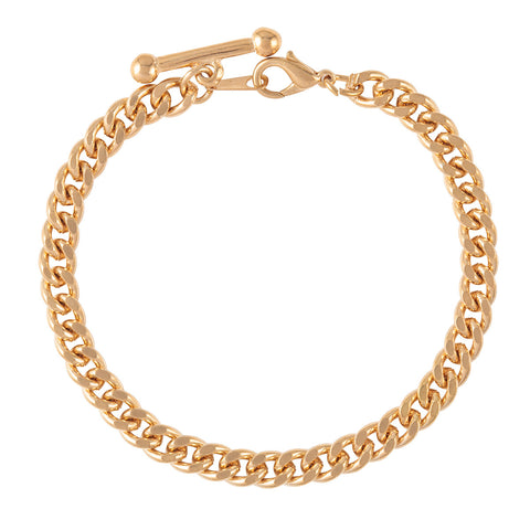 1990s Vintage Gold Plated Albert Bar Bracelet