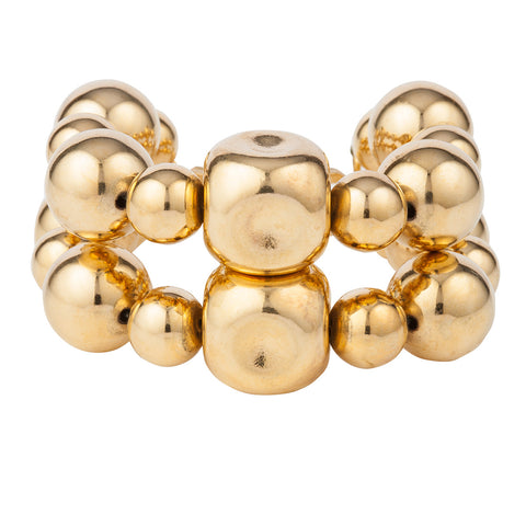 1980s Vintage Givenchy Double Ball Bracelet