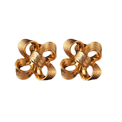 1980s Vintage Kenneth Jay Lane Bow Earrings