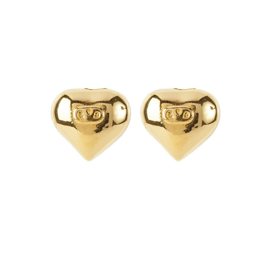 1980s Vintage Valentino Sculpted Heart Earrings