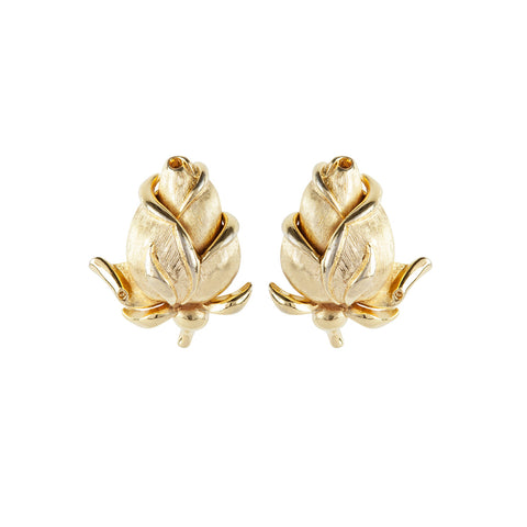 1960s Vintage Trifari Rosebud Earrings