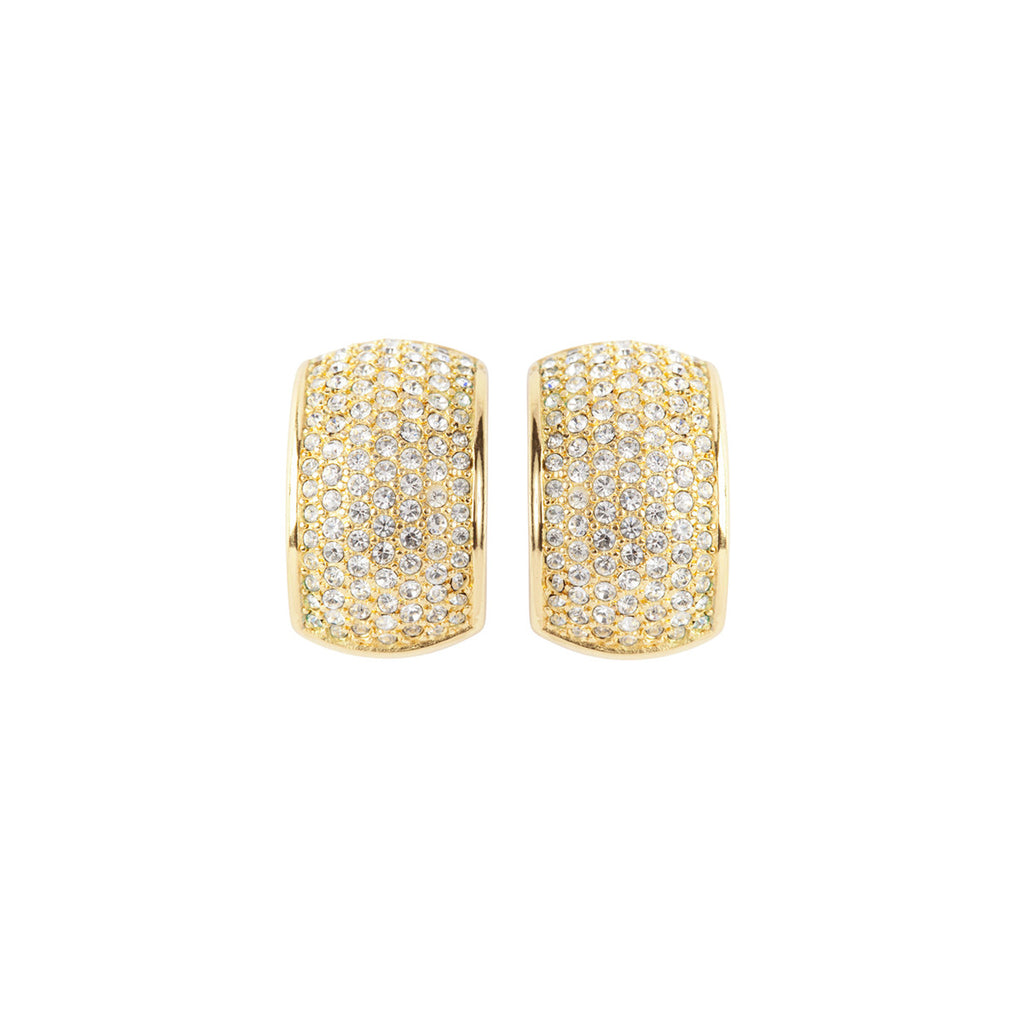 1980s Vintage Christian Dior Crystal Earrings