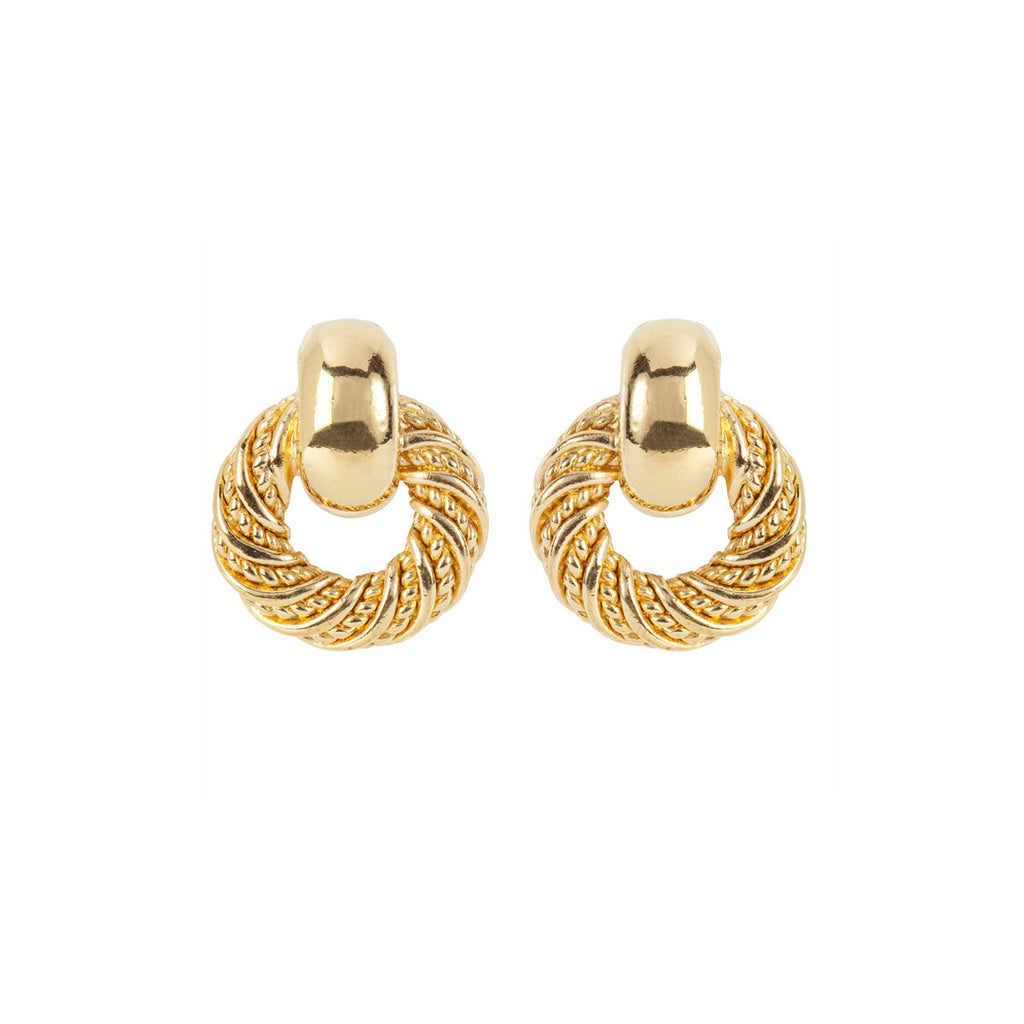 1980s Vintage Christian Dior Doorknocker Earrings