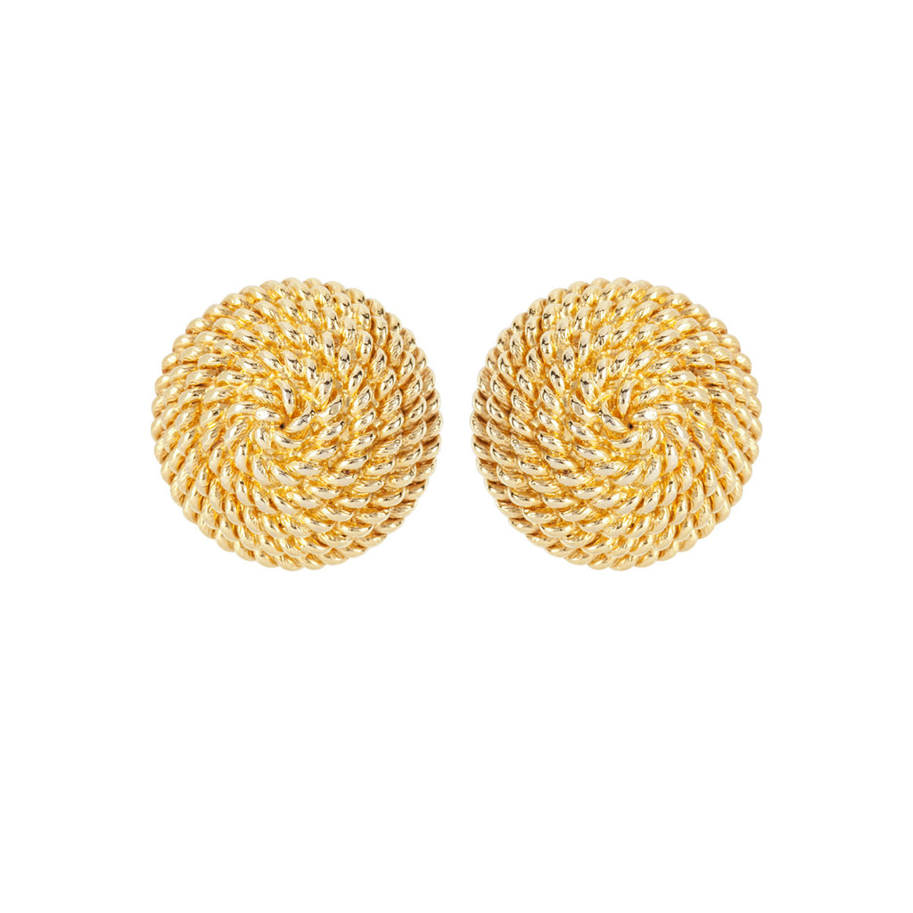 1960s Vintage Monet Woven Round Earrings