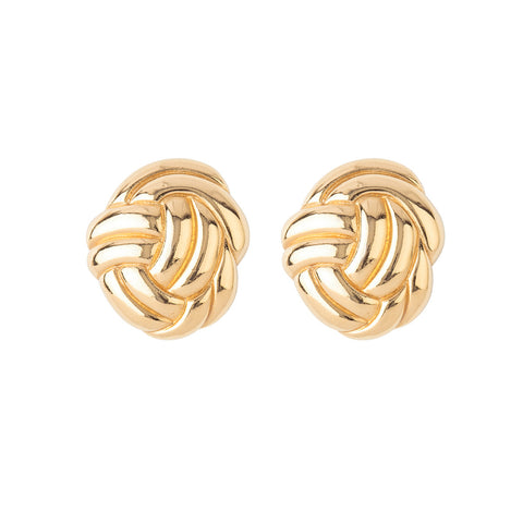 1980s Vintage Yves Saint Laurent Knot Earrings