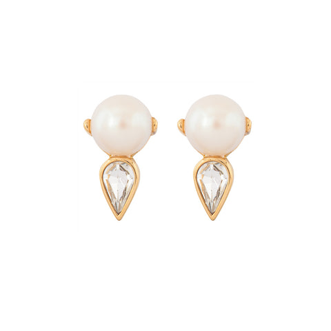 1970s Vintage Nina Ricci Faux Pearl Earrings