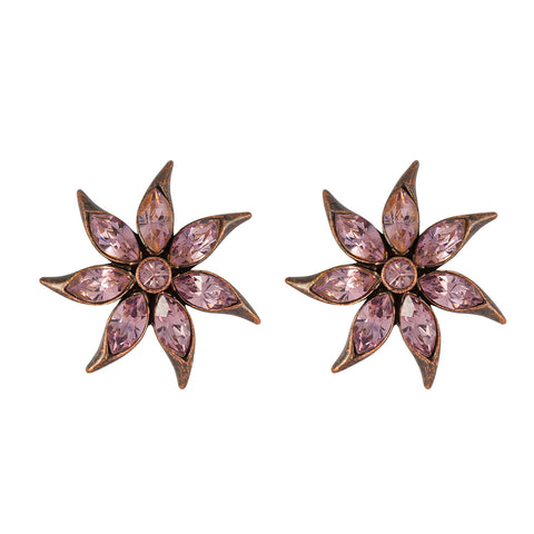 1980s Butler & Wilson Crystal Flower Earrings