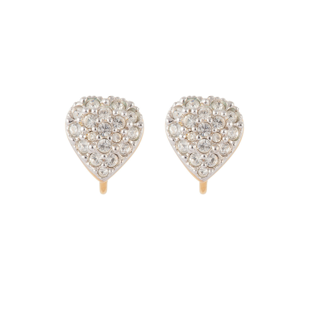 1970s Vintage Swarovski Heart Earrings