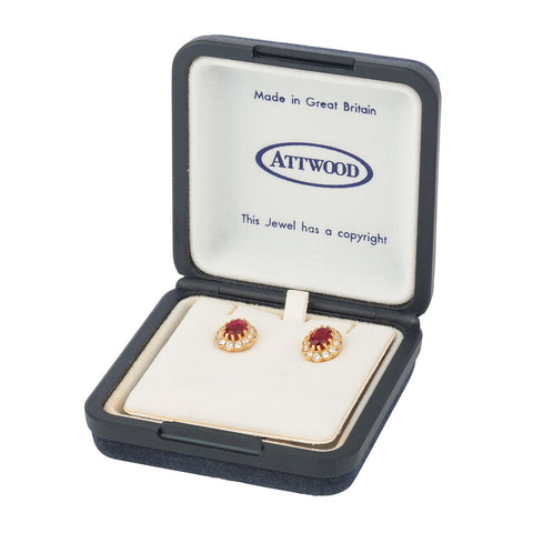 1960s Vintage Attwood & Sawyer Crystal Earrings