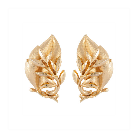 1970s Vintage Sarah Coventry Leaf Earrings