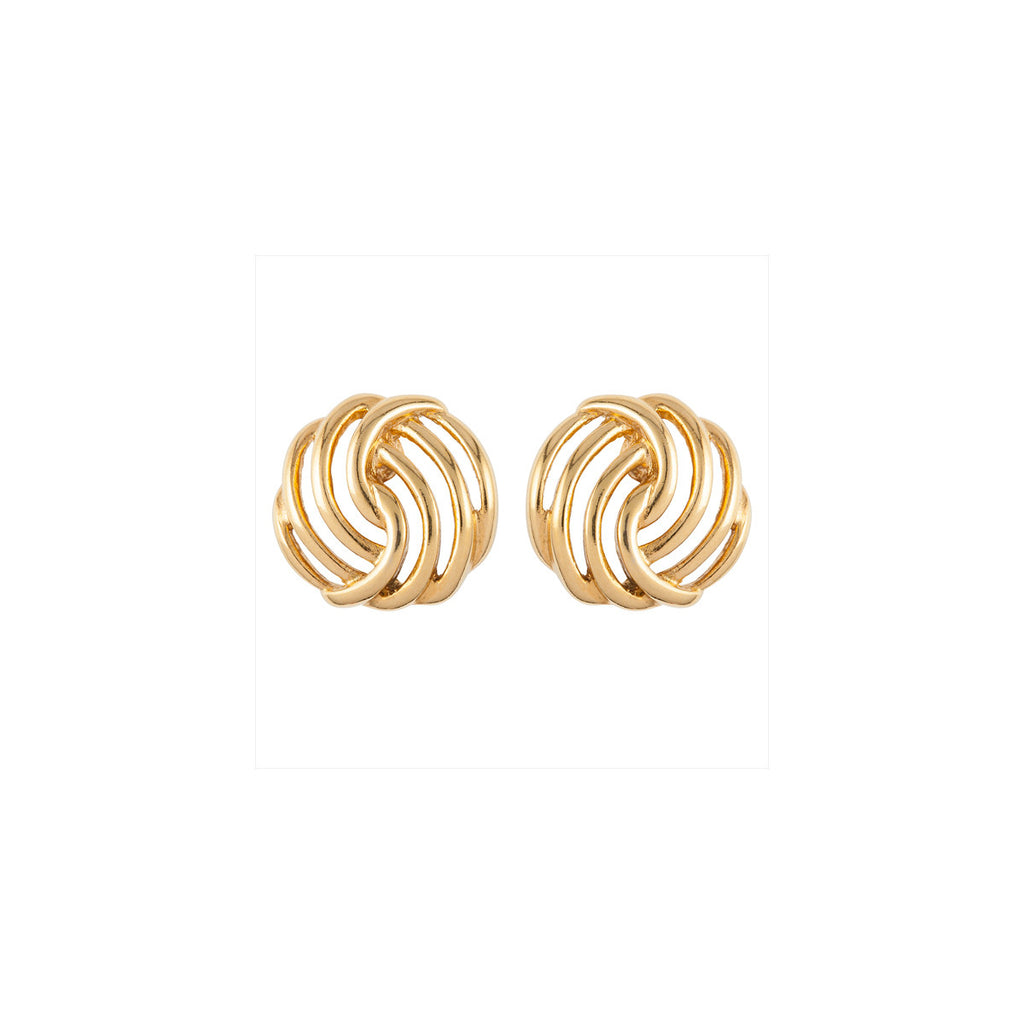 1970s Vintage Monet Gold Earrings