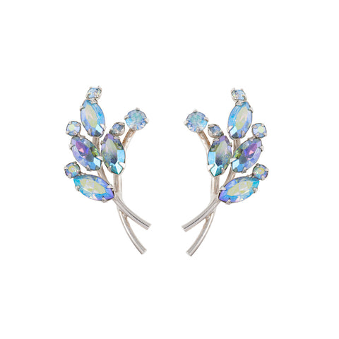 1950s Vintage Keyes Crystal Earrings