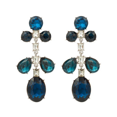 1980s Vintage Kenneth Jay Lane Crystal Earrings