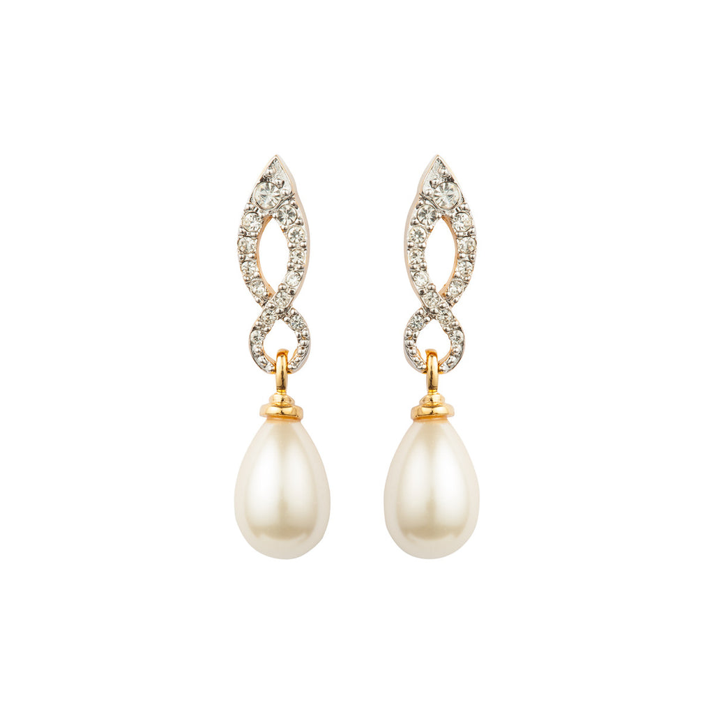 1980s Vintage D'Orlan Faux Pearl Earrings