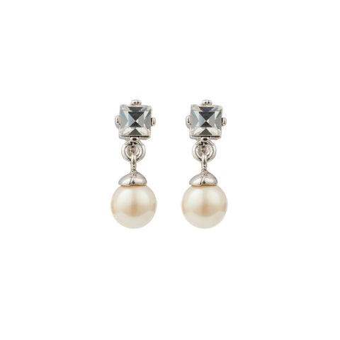 1980s Vintage Nina Ricci Faux Pearl Earrings